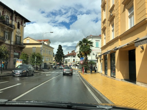 A street in Opatija, Croatia, after the rain